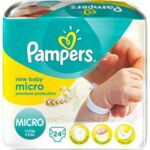 PAMPERS COUCHES NEW BABY MICRO 1-2,5 KG x 24 à Hourtin