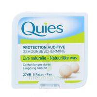 QUIES PROTECTION AUDITIVE CIRE NATURELLE 8 PAIRES à Hourtin
