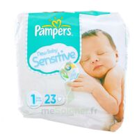 PAMPERS COUCHES NEW BABY SENSITIVE TAILLE 1 2-5 KG x 23 à Hourtin