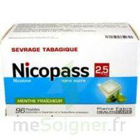 NICOPASS MENTHE FRAICHEUR 2,5 mg SANS SUCRE, pastille édulcorée à l'aspartam et à l'acésulfame potassique à Hourtin